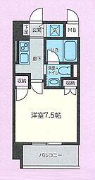 仙台市地下鉄東西線 大町西公園駅 徒歩6分の賃貸マンション 2階1Kの間取り