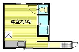 ハイツ入船[1階]の間取り