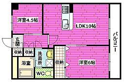 グリーンハイム海田[5階]の間取り