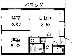 オーナーズマンション南巽[504号室号室]の間取り