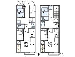 レオパレスプラティニ[2階]の間取り