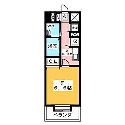 グランメール・エスティエ[8階]の間取り
