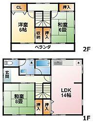 [一戸建] 千葉県茂原市六田台 の賃貸【/】の間取り