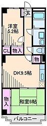 神奈川県横浜市鶴見区駒岡5丁目の賃貸マンションの間取り