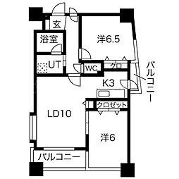 ノヴァ大通II[7階]の間取り