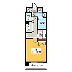 レジデンス18[4階]の間取り