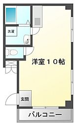コスモハイツ[4階]の間取り