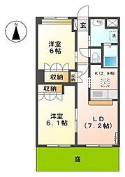 エタニティプレステージ[2階]の間取り