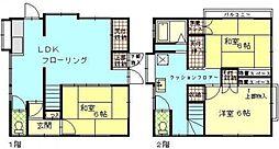 [タウンハウス] 神奈川県横浜市保土ケ谷区星川1丁目 の賃貸【/】の間取り