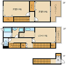 ラフィネAO[2階]の間取り