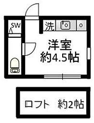 東京都世田谷区祖師谷5丁目の賃貸アパートの間取り