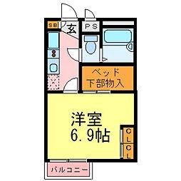 兵庫県尼崎市杭瀬北新町1丁目の賃貸アパートの間取り