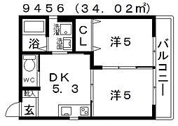 Station Side TakawashiII(ステーションサイド高鷲[201号室号室]の間取り