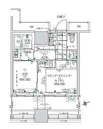 JR山手線 浜松町駅 徒歩11分の賃貸マンション 3階1LDKの間取り