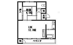 日電京都ハウス[206号室]の間取り