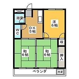メトロポリス1号館[2階]の間取り