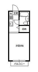 青木葉センタービル[205号室]の間取り