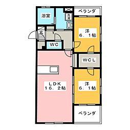インテグラD[1階]の間取り