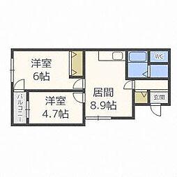 aNEXT札幌第7[2階]の間取り