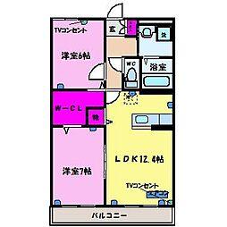 ハートフル ウィステリア[3階]の間取り