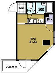 サンハイムトミヤ[4階]の間取り