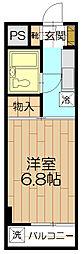 神明田口ハイツ[307号室]の間取り