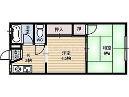 加賀マンション[3階]の間取り