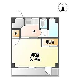 サンジェルマン富田町[5階]の間取り