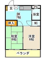 クリエール金沢八景[2階]の間取り