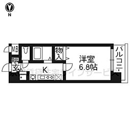 京都府京都市中京区三条油小路町の賃貸マンションの間取り