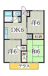 パールハイツ木立47[2階]の間取り