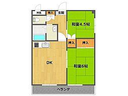 ドルチェK&Y[3階]の間取り