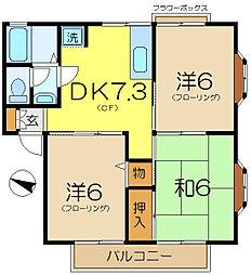 ハイツ金勇[2階]の間取り
