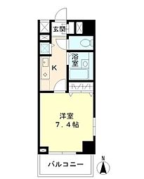 東京都江東区亀戸2丁目の賃貸マンションの間取り