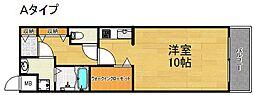 ラ・カーサ西加賀屋[3階]の間取り