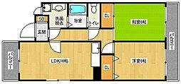 京都府京都市中京区三条町の賃貸マンションの間取り