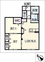 ヒーリングハウス[1階]の間取り