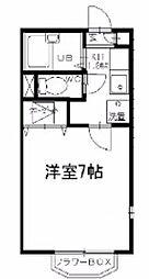 神奈川県横浜市旭区中沢1の賃貸アパートの間取り
