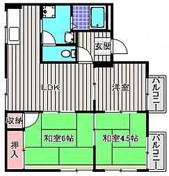 コスモハイツ華[2階]の間取り