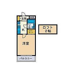 サンニール天沼[2階]の間取り