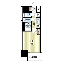 Osaka Metro四つ橋線 肥後橋駅 徒歩7分の賃貸マンション 7階1Kの間取り