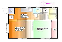 クレヨンハウス[2階]の間取り