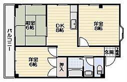 第6むさしマンション[3階号室]の間取り