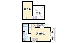 愛知県名古屋市緑区鳴海町字本町の賃貸アパートの間取り