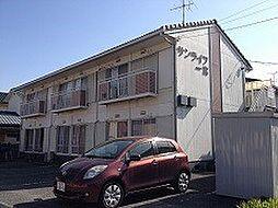 岡山県岡山市北区西辛川の賃貸アパートの外観