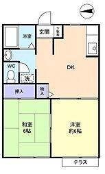 佐倉パークハイム[1階]の間取り