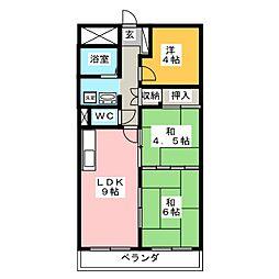 ニシムラマンション[3階]の間取り