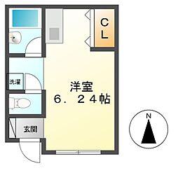 神奈川県川崎市高津区二子3丁目の賃貸アパートの間取り