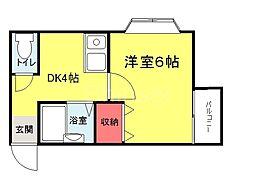 大阪府堺市堺区南旅篭町東1丁の賃貸マンションの間取り
