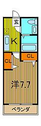 フローレス六番館[1階]の間取り